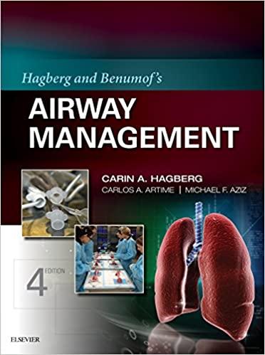 Hagberg and Benumof's Airway Management 4th Edition