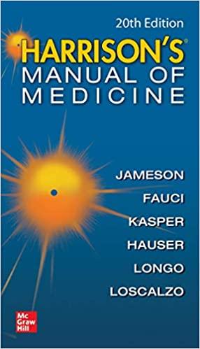 Harrisons Manual of Medicine 20th Edition PDF Free Download 2020