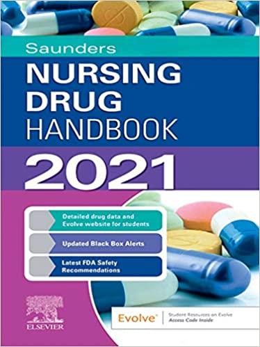 Saunders Nursing Drug Handbook 2021 E-Book 1st Edition PDF
